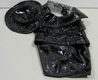 Faux Leather Jacket With Hat Size M