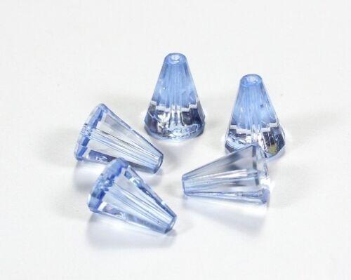 10 Acryl Perlen Kegel facettiert 17x12,5mm FARBAUSWAHL