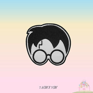 Harry Potter Scar Face Movie Comics Embroidered Iron On Patch Sew On Badge