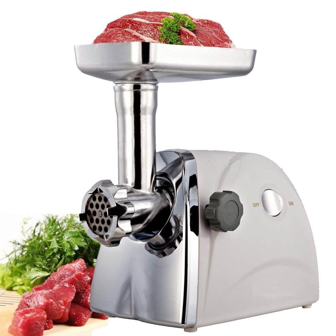 Potente Picadora De Carne Para Embutidos De 800W Potencia Maxima Con Accesorios