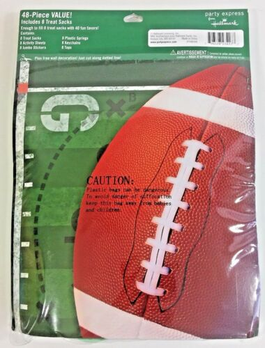 Football 48 Piece Party Favors Pack Includes 8 Treat Sacks Super Bowl