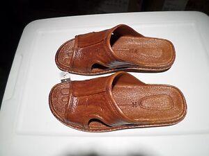 Pali Hawaii Sandals MEN'S  PH186 SIZE 8 LIGHT BROWN