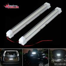 2PCS 12V 72 LED White Car Interior Strip Lights Bar Lamp Van Caravan Switch