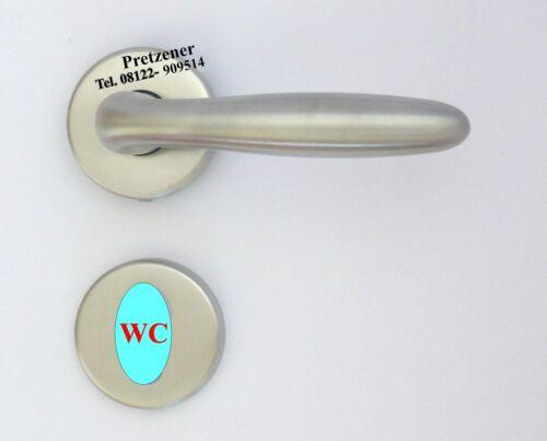 Türdrücker  WC Bad oder PZ Edelstahl Türbeschlag Rosettengarnitur