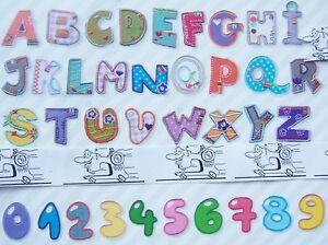Buchstaben Zum Aufkleben : lustige buchstaben und zahlen zum aufb geln und n hen ebay ~ Watch28wear.com Haus und Dekorationen