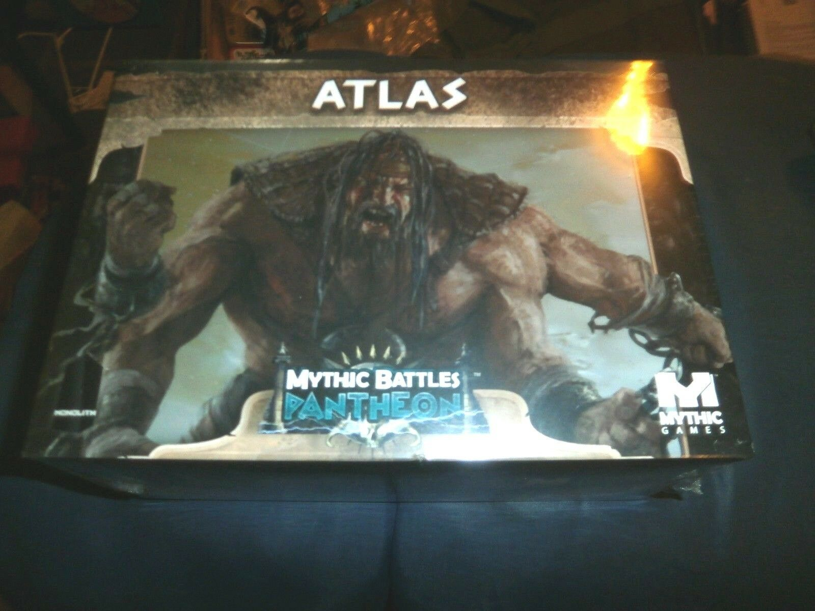 Mythic Battles Pantheon TITAN ATLAS  IN HAND and ready to ship now  SEALED