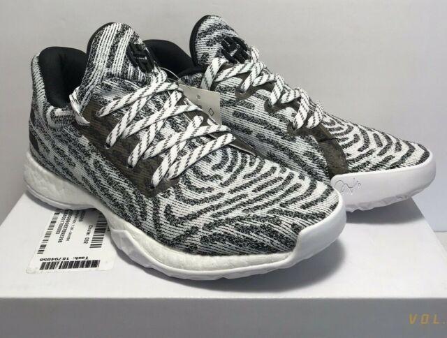 Adidas Grade School Size 4Y James Harden VOL 1 LS PK J White Black AQ0469 Shoes