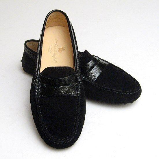 NEW Black Suede & Patent DESIGNER LADIES ITALIAN shoes 4 Womens Euro 37