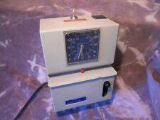 Working Original Vintage Lathem Hundredths Time Clock Model 2226 Key Punch Old
