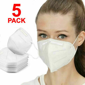 5 PCS KN95 Face Mask Mouth Cover Medical Surgical Disposable Masks USA 5-PACK