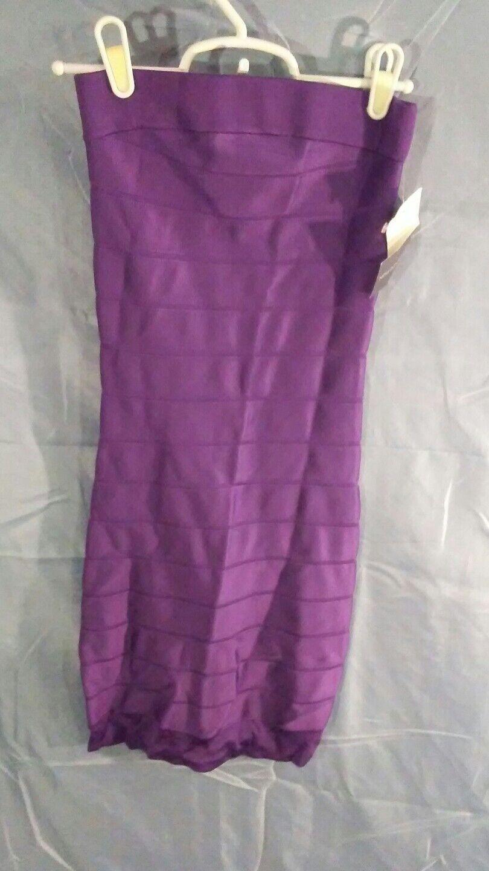 French Connection Sleeveless Tube Top Bandage Dress lila sz 0 NWT