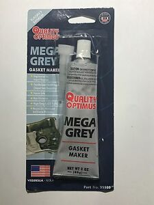 Mega Premium RTV Silicone Hi-Temp Gasket Maker GRAY Water/Oil Resistance 3OZ