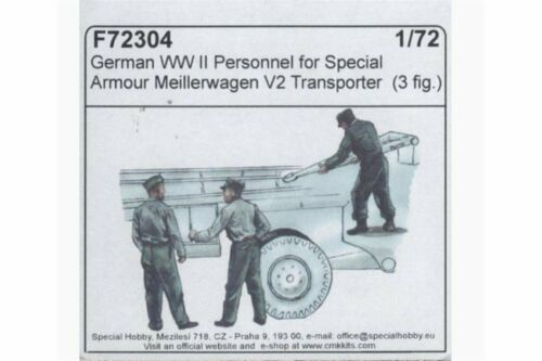 CMK F72304 1//72 German WWII personnel for Meillerwagen V2 trans Special Armour