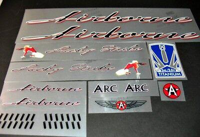 sku Airb801 Airborne Bicycle Titanium Tubing Decal