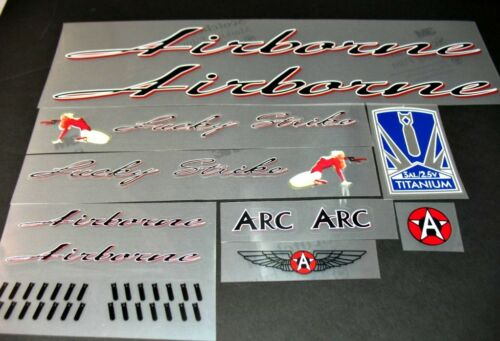 sku 10420 Airborne Lucky Strike Bicycle Decal Set