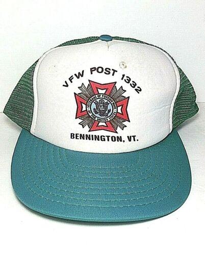 Vintage VFW POST 1332 Bennington Vermont hat snap