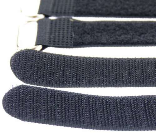 20 X Velcro Serre-câbles 30 cm x 25 mm Noir Velcro Bandes Câble Velcro Avec œillet
