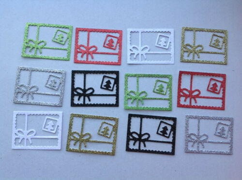 Christmas Festive Die-Cuts 4 Designs in assorted Colours sets of 12