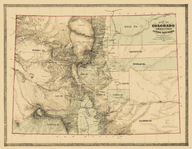 Historic State - COLORADO TERRITORY AND GOLD REGION 1862