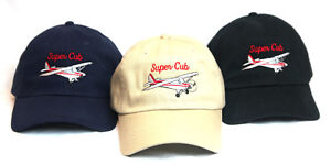 Piper-Super-Cub-General-Aircraft-Embroidered-Hat-PA-18-Aviation