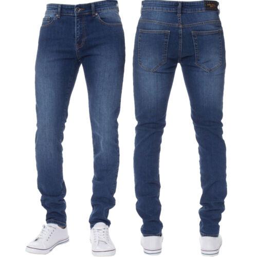 Mens Skinny Jeans Slim Fit Super Stretch Cotton Denim Trousers Pants All Waists