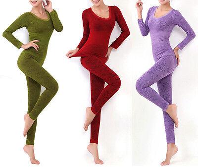 Sexy Women Warm tight Seamless Body Sculpting Slim Thermal Underwear Set B Style