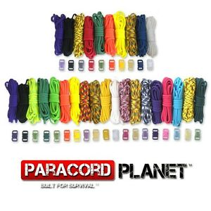 Paracord Bracelet Kit with Buckles 550 Mil Spec Type III 7 Strand Parachute Cord