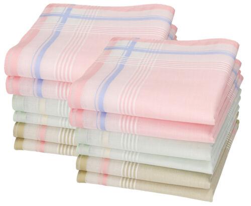 Betz 12 Stück Damen Stoff Taschentücher Set Paloma 2 30x30 cm 100/% Baumwolle