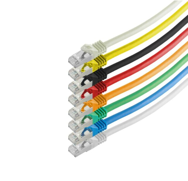 RJ45 Patchkabel S/FTP, PIMF m.CAT.7 Rohkabel Netzwerkkabel LAN-Kabel 0,25m - 50m