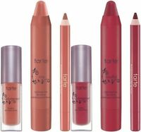 Tarte Full Sz Lip Creme, Trvl Sz Lip Gloss & Lip Liner Set In Buff Or Wine