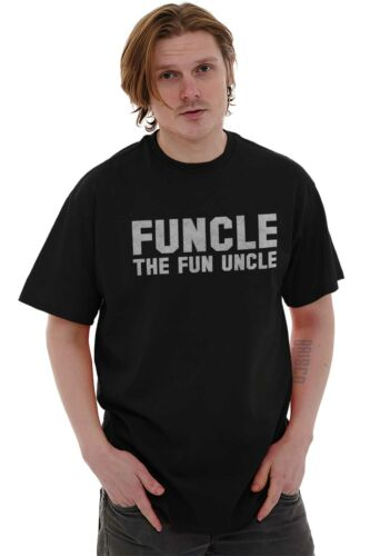 Funcle Fun Uncle Cool Sarcastic Fathers Day Short Sleeve T-Shirt Tees Tshirts
