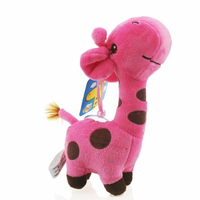 Cute Pink Colors Mini Deer Giraffe Stuffed Animals Soft Toys Plush