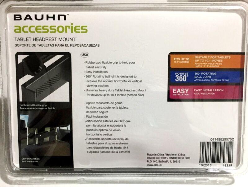 Bauhn Tablet Headrest Mount iPad eBooks Kindle Rotates 360. Up to 10.1