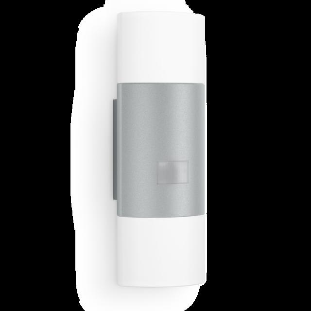 Steinel LED Außenleuchte, Wandleuchte mit Sensor 11W L 910 silber