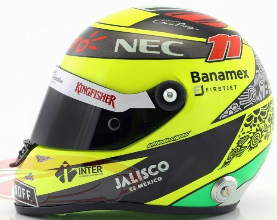 SCHUBERTH MINI HELMETS Sergio PEREZ Force India F1 2016 & 2017 &  2018 1 2 scale