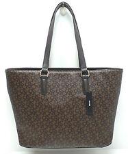 DKNY Women's Handbag *Heritage Coated Logo w/ Vachetta PVC Shopper/Tote New $195