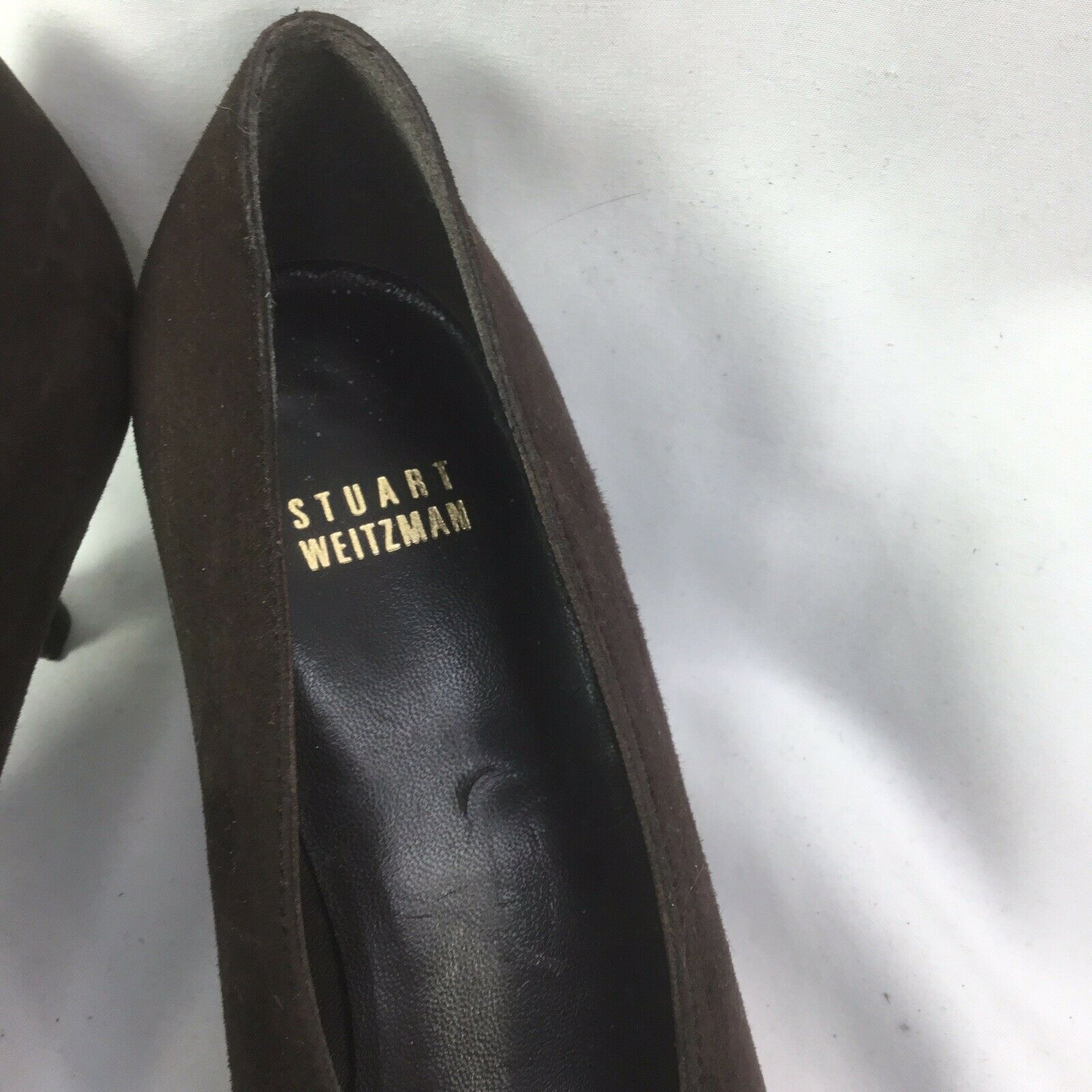 Stuart Weitzman Bombas de ante marrón para mujer Talla 7 M M 7 a320bf