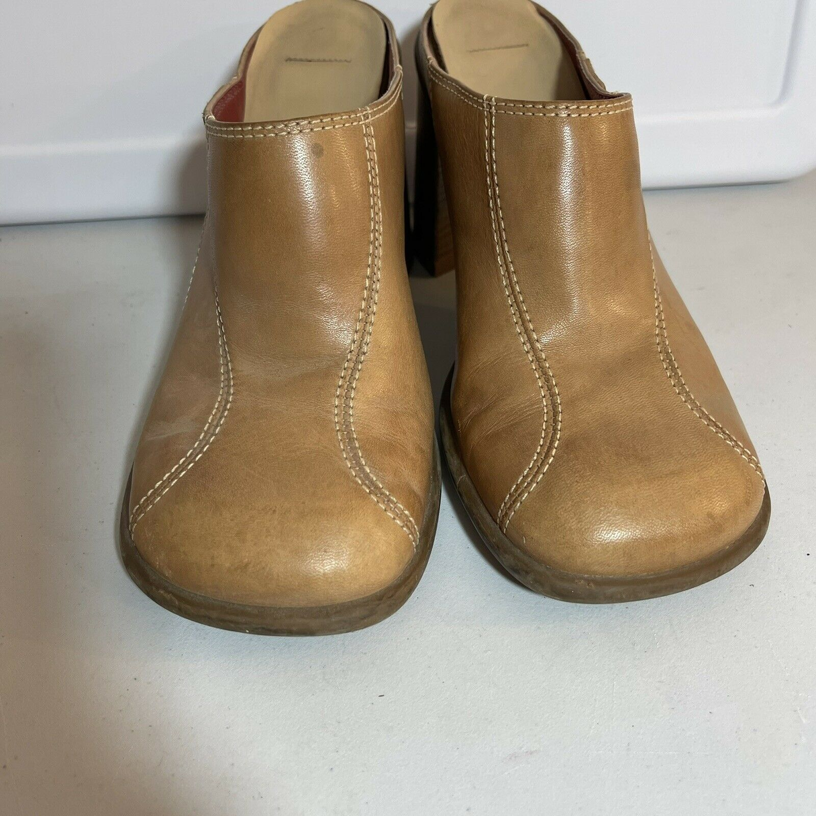 Tommy Hilfiger Leather Clogs Mules Womens 7-7.5 T… - image 2