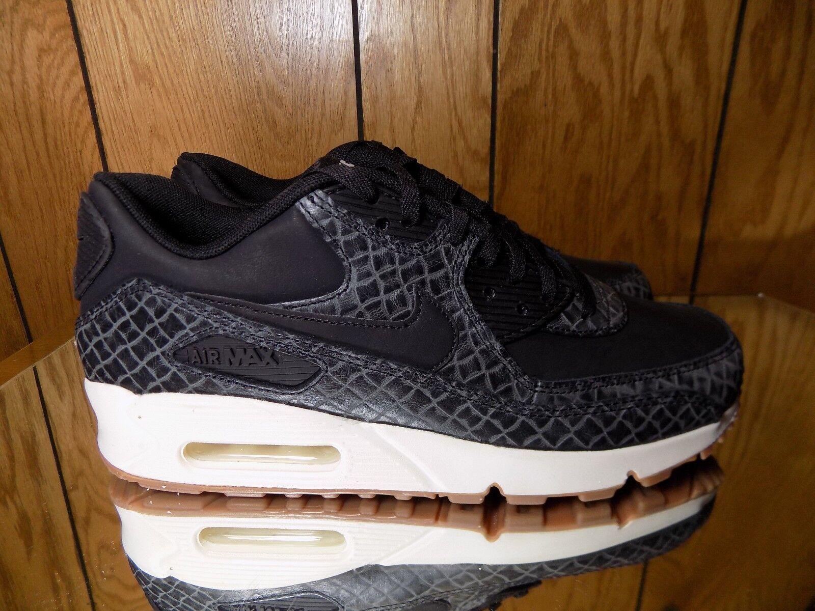 New Shoes Nike Women's Air Max 90 Premium Shoes New (443817-010) Black/Sail/Gum Med Brown 71aca1
