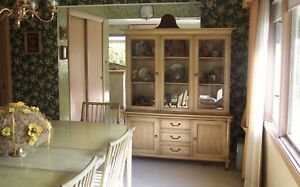 Antique dining set white furniture kitchen table hutch chairs image is loading antique dining set white furniture kitchen table hutch workwithnaturefo