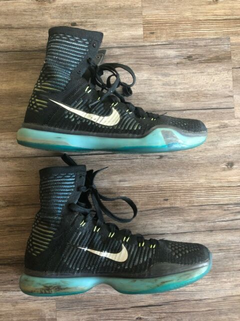 0707a8bd7309 Nike Kobe X 10 Elite Commander Blue Black Mens 11 Basketball Shoes  718763-004