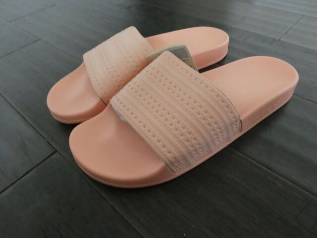 finest selection f48e7 9a6a6 Adidas Adilette slides mens shoes new Made in Italy Haze Coral BA7538