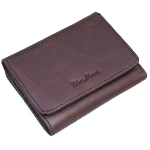 Men/'s Trifold Genuine Leather Wallet Credit Card Holders Coin Pocket Purse