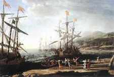 Metal Sign Marine With The Trojans Burning Their Boats A4 12x8 Aluminium