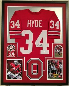 be790f724 Image is loading FRAMED-CARLOS-HYDE-AUTOGRAPHED-SIGNED-OHIO-STATE-BUCKEYES-