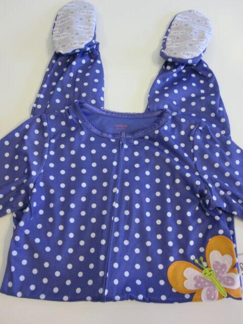 a19f0f947 Carter s Pajama Sleeper Size 5t Purple Butterfly Summer