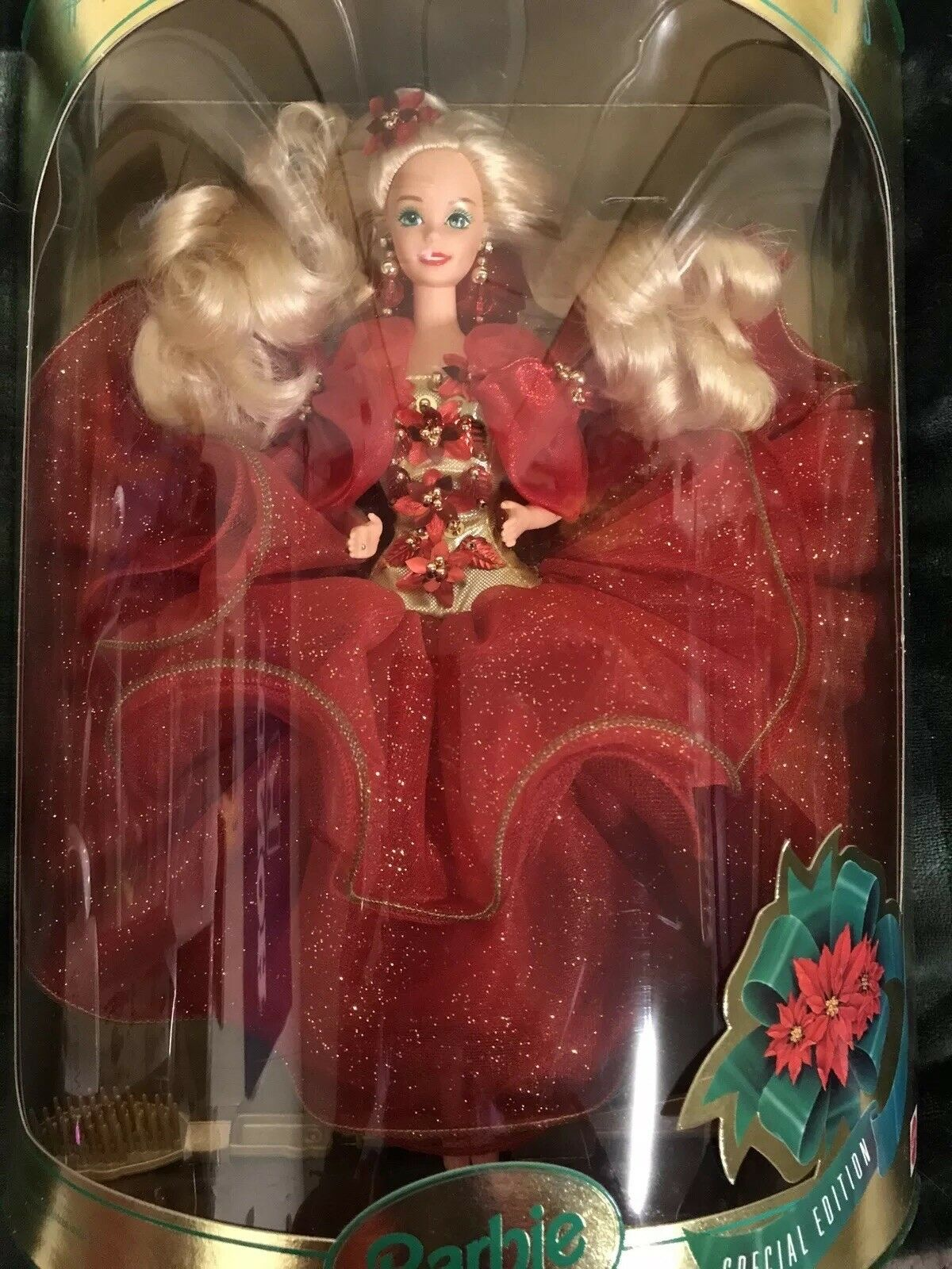 1993 edición especial felices fiestas Muñeca Barbie (nuevo En Caja, Impecable)