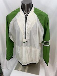 Vintage-Nike-1-4-Zip-Pullover-Windbreaker-Jacket-White-Green-2XL