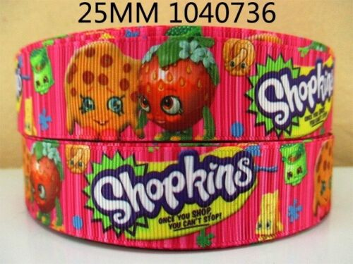 "Shopkins ruban large 1/"" neuf uk vendeur gratuit p/&p"