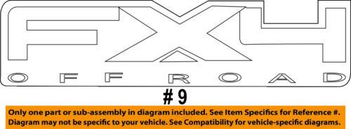 FORD OEM 2011 F-350 Super Duty Pickup Bed-Decal Sticker 9L3Z9925622AA
